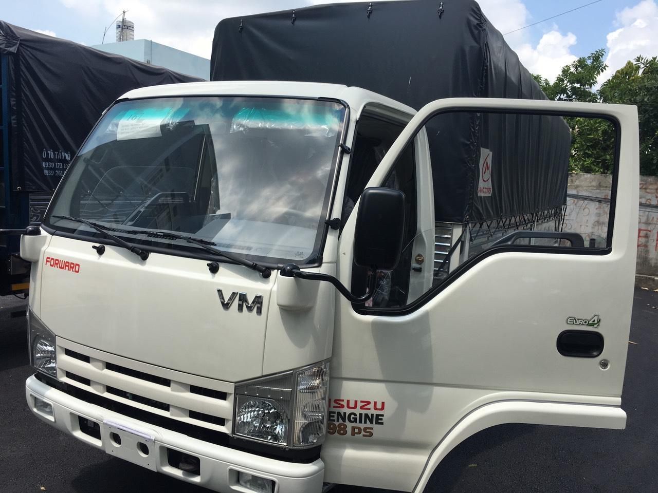 Xe tải isuzu 1 tấn 9  thùng mui bạt 6m2 - hỗ trợ trả góp 90% - lãi suất 0.66%