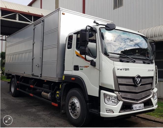 xe tải THACO AUMAN cabin mới - tải 9 tấn - trang bị cảm biến lùi xe - động cơ CUMMINS