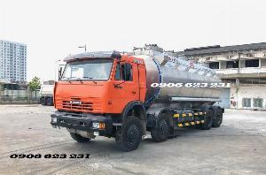 Xe bồn xăng dầu 4 giò Kamaz/ Kamaz xăng dầu bồn nhôm 25m3