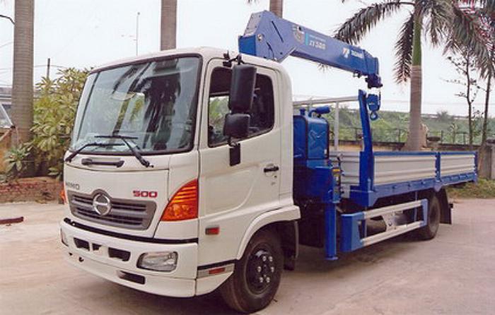 Xe tải 7 tấn HINO FC9JLSW gắn cẩu 5 tấn 5 đốt TADANO TM-ZT505 thùng dài 6m | Hỗ trợ mua trả góp 90% giá trị xe 1