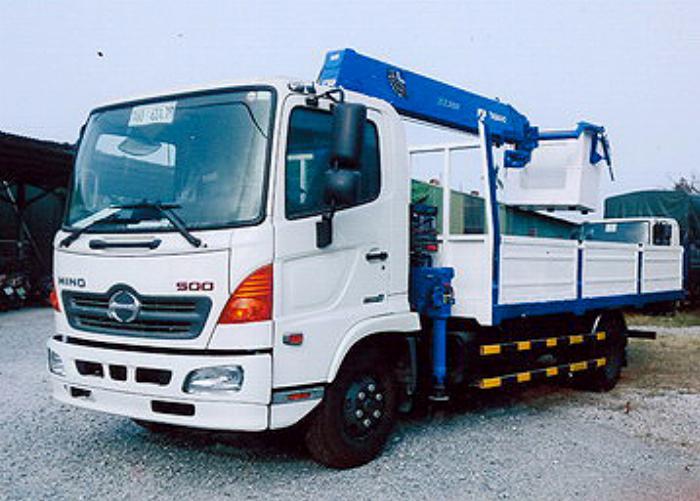 Xe tải 6,4 tấn HINO FC9JJTA EURO4 gắn cẩu 3 tấn 5 đốt TADANO model TM-ZE305 thùng dài 5m | Hỗ trợ vay vốn ngân hàng 90% giá trị xe 1