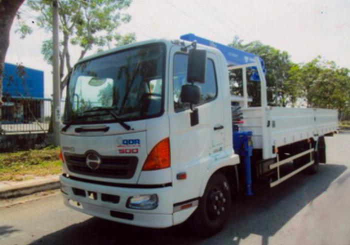 Xe tải 6,4 tấn HINO FC9JJTA EURO4 gắn cẩu 3 tấn 5 đốt TADANO model TM-ZE305 thùng dài 5m | Hỗ trợ vay vốn ngân hàng 90% giá trị xe 0