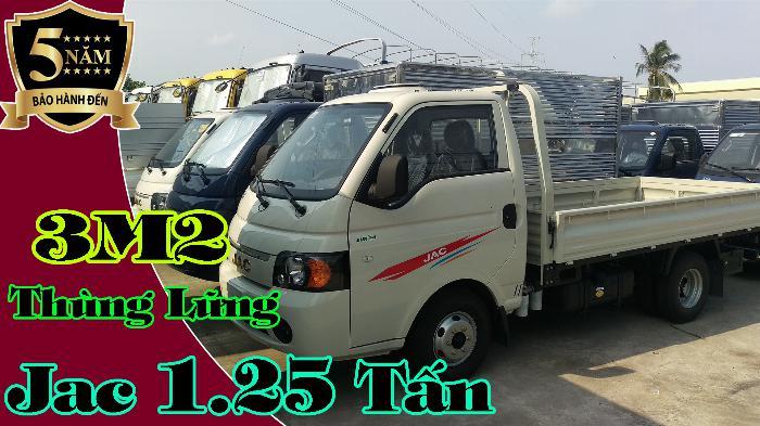 Jac x5 thùng lững   Xe tải Jac - Jac 1.25 tấn thùng lững 3m2 5