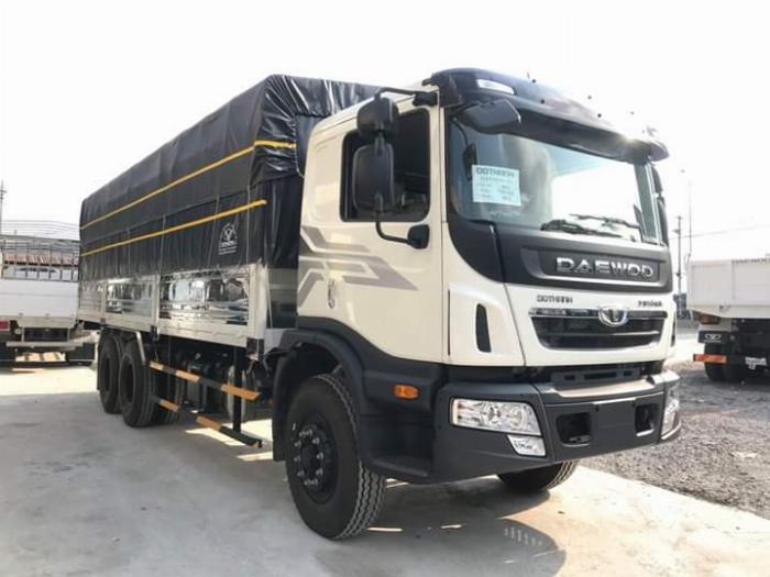 Xe tải 3 chân DAEWOO tải 15 tấn thùng mui bạt dài 9.2m - Trả Góp
