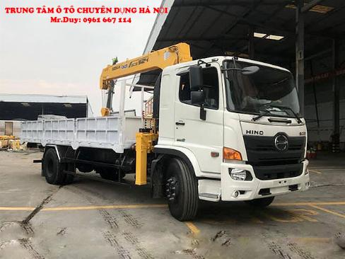Xe tải Hino 9,4 FG9JP7A ( Euro4) găn cẩu 5 tấn 4 đốt Soosan SCS524 thùng dài 6,5m | Khuyến mãi 2% thuế trước bạ khi mua xe 0