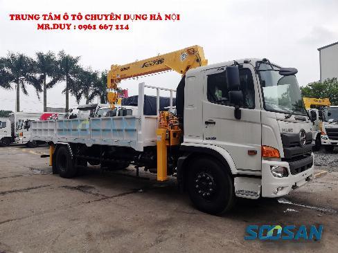 Xe tải 9.4 tấn Hino FG8JP7A gắn cẩu 6 tấn 5 đốt Soosan SCS735 thùng dài 6,5m | Hỗ trợ mua xe trả góp 85% giá trị xe 2