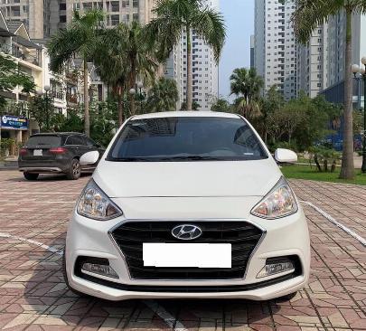 Bán xe Huyndai I10 sedan 1.2, số sàn, sản xuất 2018 màu trắng tinh 5