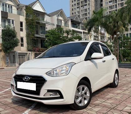Bán xe Huyndai I10 sedan 1.2, số sàn, sản xuất 2018 màu trắng tinh 6
