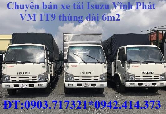 Bán xe tải Isuzu VM 1T9 (NK490SL4). giá bán xe tải Isuzu VM 1T9 thùng dài 6m2