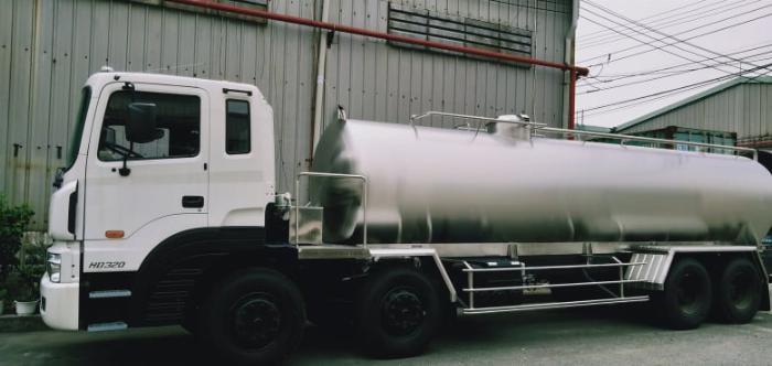 xe bồn huyndai hd320 chở xăng dầu