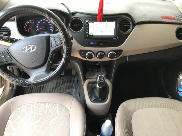 Bán Hyundai Grand i10 sedan 1.2MT màu nâu titan số sàn bản đủ sản xuất 2018 mới 99% 0