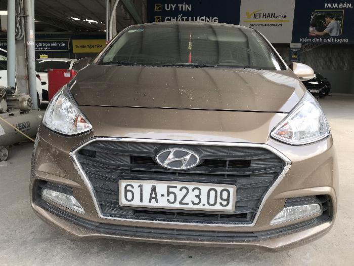Bán Hyundai Grand i10 sedan 1.2MT màu nâu titan số sàn bản đủ sản xuất 2018 mới 99% 7