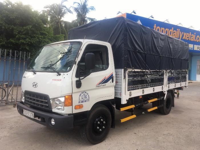 Xe tải HYUNDAI MIGHTY 2017 (Ga cơ) tải 8 tấn thùng mui bạt - Trả Góp
