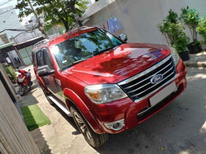 Bán Ford Everest Đỏ 2010 đk 2011 tự động máy dầu rất mới 3