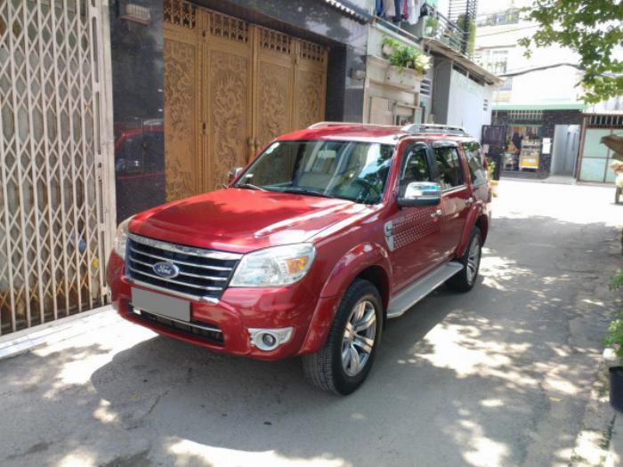 Bán Ford Everest Đỏ 2010 đk 2011 tự động máy dầu rất mới 5