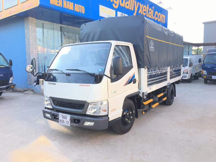 Xe tải Đô Thành tải 2.5 tấn Động Cơ ISUZU thùng bạt dài 4.2m - Trả Góp