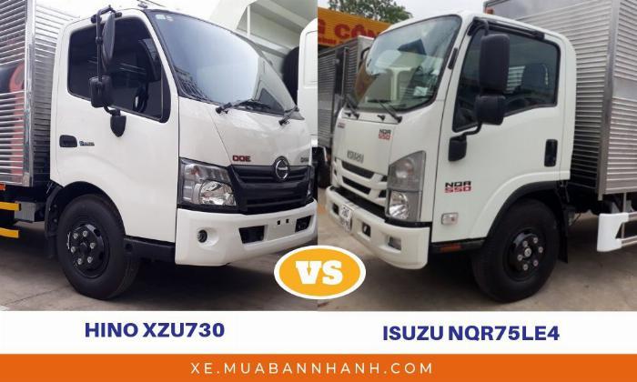 So sánh xe tải Hino 5 tấn và Isuzu 5 tấn