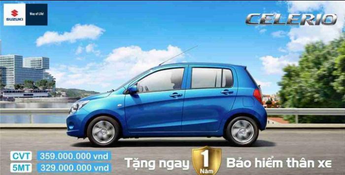 Suzuki Celerio - Xe nhập khẩu, giá tốt nhất phân khúc, tiết kiệm nhiên liệu 3.7 L/100km 0