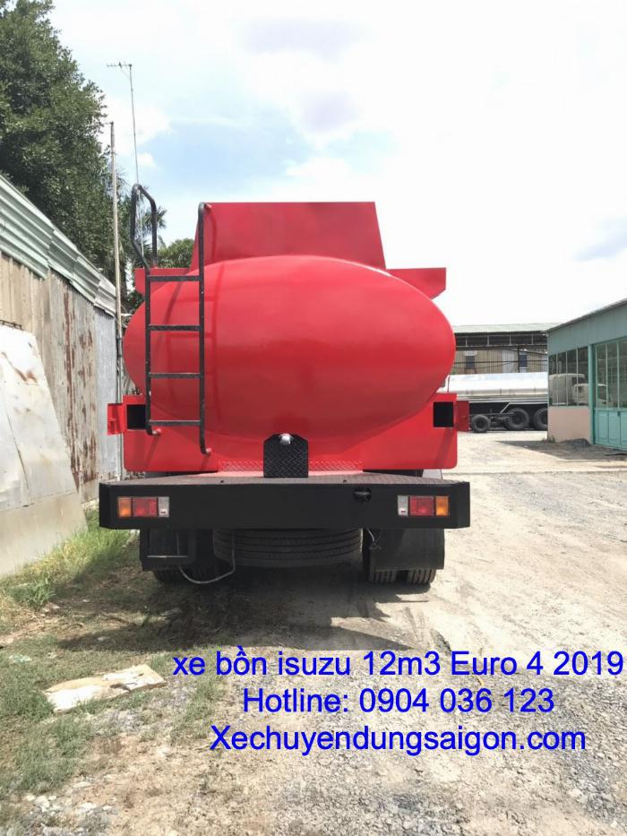 xe bồn chở xăng 12 khối ISUZU, Xe bồn isuzu 12 khối, giá xe bồn chở xăng dầu