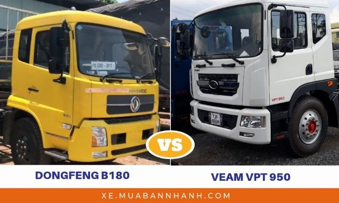 So sánh Dongfeng B180 với Veam VPT950