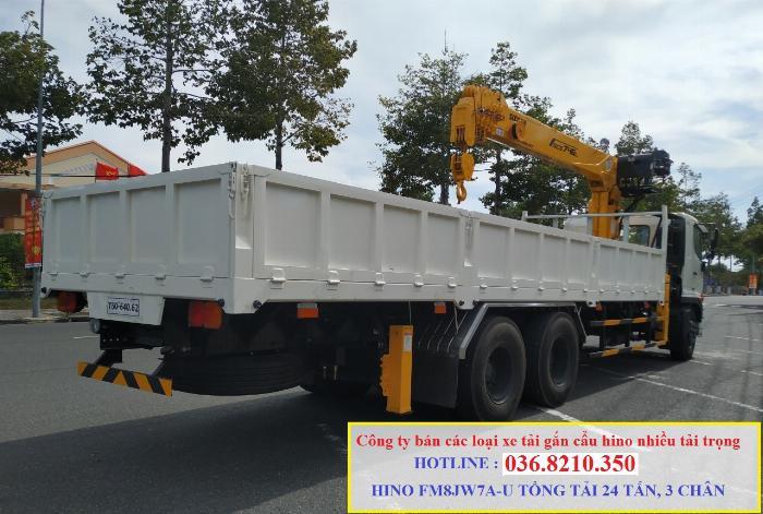 Hino FM tổng tải 24 tấn gắn cẩu soosan 746 tải trọng còn 10 tấn 2