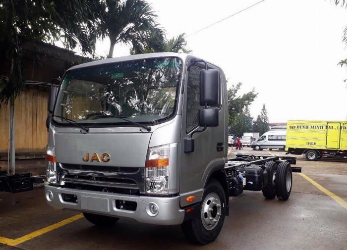 xe tải JAC 6t5 thùng 5.3m, sx 2019, cabin vuông hỗ trợ trả góp 80% xe 6