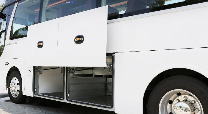 Xe khách TB85S 29 chỗ bầu hơi gánh. Mẫu mới THACO 2019 2