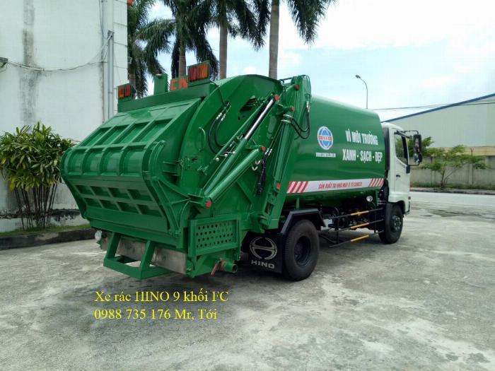 Xe rác trả góp giá rẻ, thùng INOX 9 khối 2