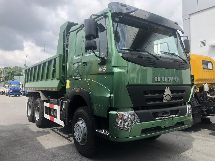 Xe Ben Howo 3 Chân HW340 Mới 2019 Ben Giữa Thùng 10m3