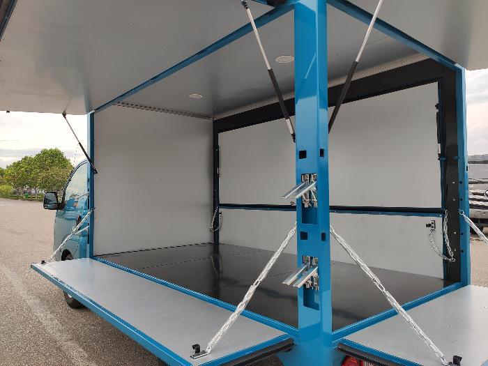 Xe Tải KIA Trường Hải thùng kín mở cánh dơi, 1.49 tấn, thùng 3.2m mới 100%. 6