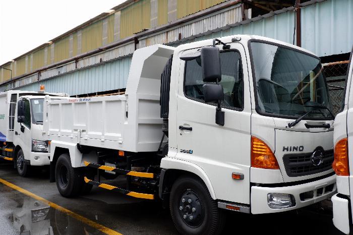Xe Ben Hino Thùng 4 Khối Kèm Ưu Đãi, Ben nâng SHINMAYWA (Nhật Bản), tải 6 tấn 3, Hino FC9JETC E4 5