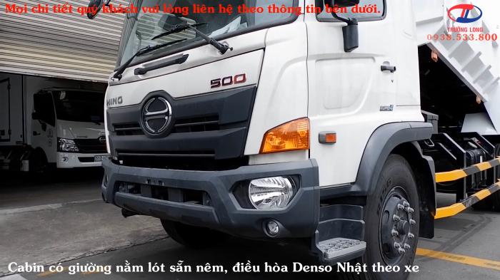 Xe Ben HINO 8 Tấn Cực Hot, Thùng 6 Khối 8, Ben Shinmaywa, Kèm Nhiều Ưu Đãi, Hino FG8JJ7A Euro 4