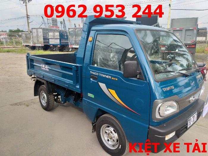 Xe tải thaco Towner 800 thùng ben nhỏ tải 750kg chuyên chở cát đá sỏi vật liệu xây dựng 12