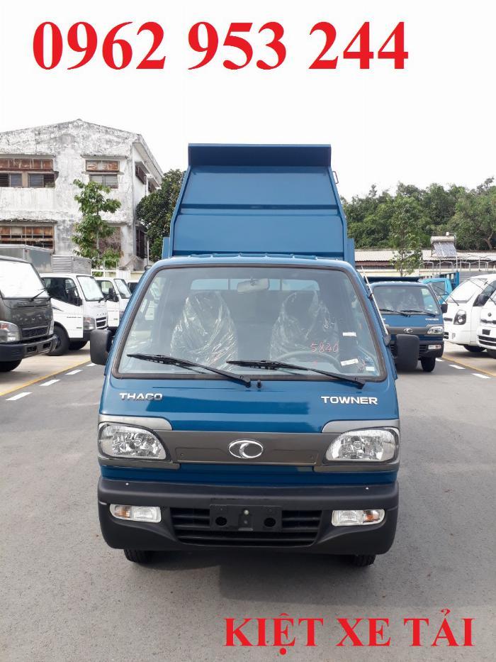 Xe tải thaco Towner 800 thùng ben nhỏ tải 750kg chuyên chở cát đá sỏi vật liệu xây dựng 8