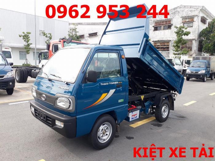Xe tải thaco Towner 800 thùng ben nhỏ tải 750kg chuyên chở cát đá sỏi vật liệu xây dựng 9