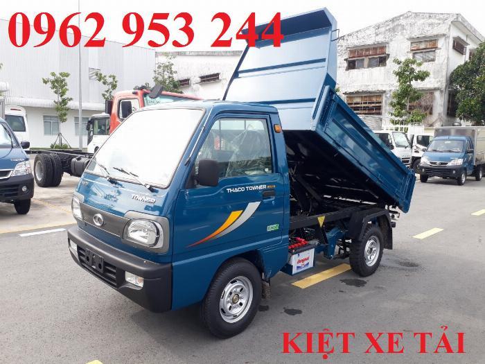 Xe tải thaco Towner 800 thùng ben nhỏ tải 750kg chuyên chở cát đá sỏi vật liệu xây dựng 10