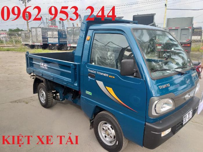 Xe tải thaco Towner 800 thùng ben nhỏ tải 750kg chuyên chở cát đá sỏi vật liệu xây dựng 11