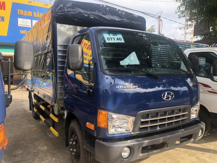 Báo giá xe tải Hyundai Mighty 2017 thùng mui bạt tải trọng 8 tấn, hỗ trợ trả góp 80% 0