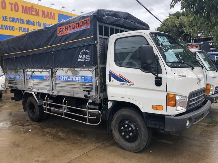 Báo giá xe tải Hyundai Mighty 2017 thùng mui bạt tải trọng 8 tấn, hỗ trợ trả góp 80% 8