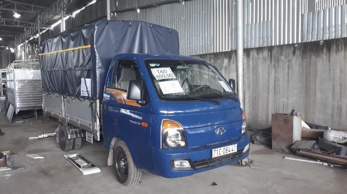 Báo giá xe tải Hyundai H150 thùng mui bạt, hỗ trợ trả góp 80% LS thấp 6