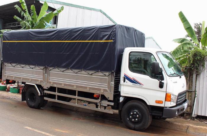 Báo giá xe tải Hyundai Mighty 2017 thùng mui bạt tải trọng 8 tấn, hỗ trợ trả góp 80% 12