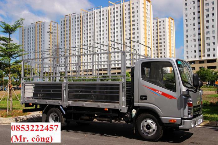 jac N200 cs - thùng bạt dài 4m3 - động cơ isuzu.