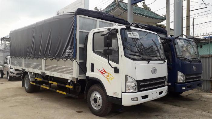 Xe tải 8 tấn - xe tải faw 7.3 tấn thùng 6m2 - Động cơ Hyundai Ga cơ - 2017