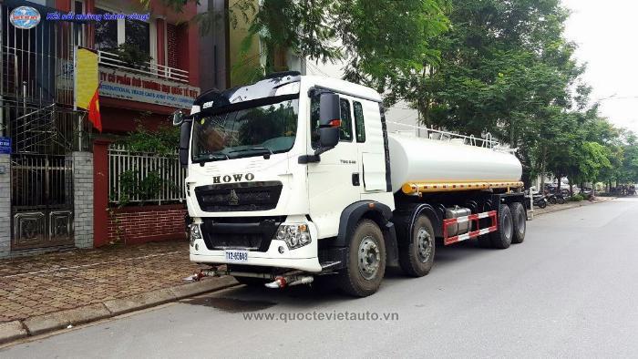 Bán xe Phun nước rửa đường Howo T5G dung tích Bồn 17 khối