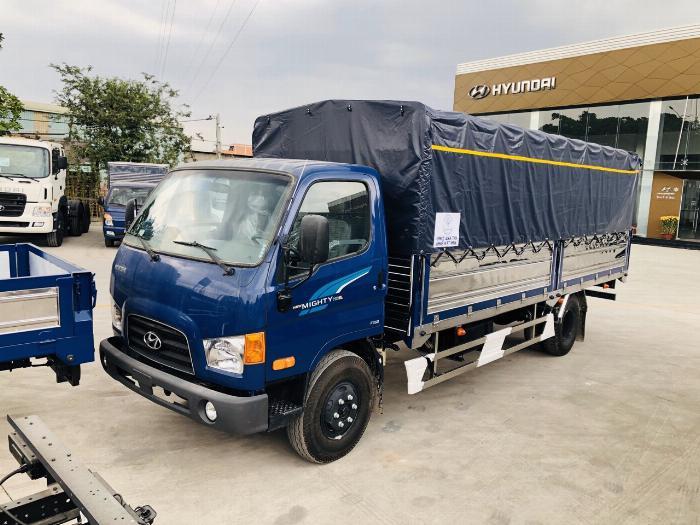 Giá Xe tải Hyundai New mighty 110SL. Tải trọng 7 tấn. Thùng dài 5m7, hổ trợ trả góp 70 - 90% 0