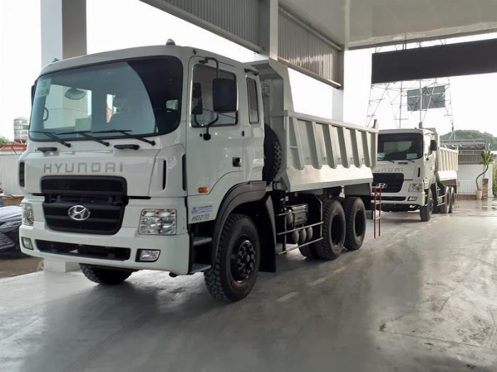 Giá Xe ben Hyundai HD 270 (nhập khẩu) 10 khốí 15 tấn. Hổ trợ 70 - 90% 1