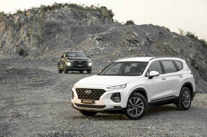 Hyundai Santafe 2020, đủ màu giao ngay 12