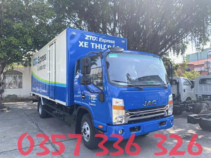 ✅Xe tải JAC 6t5 máy cumin MỸ thùng dài 6m2 phanh hơi abs