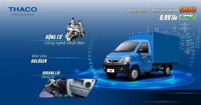 xe tải máy xăng THACO Towner 990 tải trọng 990kg