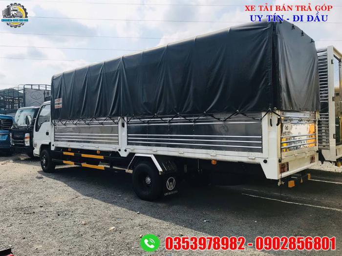 xe tải isuzu 1.9 tấn thùng dài 6 mét, giá xe tải thùng dài 4